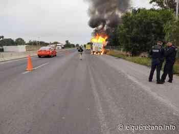 Se incendió camioneta en carretera a Bernal; sin lesionados - El Queretano