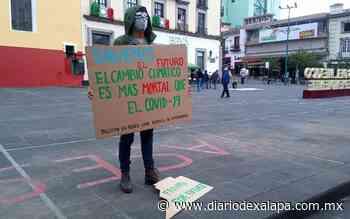 """Desde plaza Lerdo, ambientalista pide eliminar la """"ceguera climática"""" - Diario de Xalapa"""