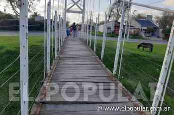 Preocupación por el estado del puente colgante de calle Merlo - El Popular Medios