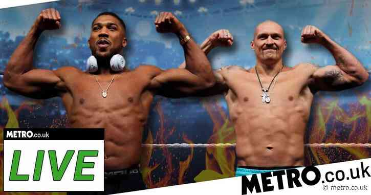 Anthony Joshua vs Oleksandr Usyk live: Undercard results, start time and how to watch in the UK