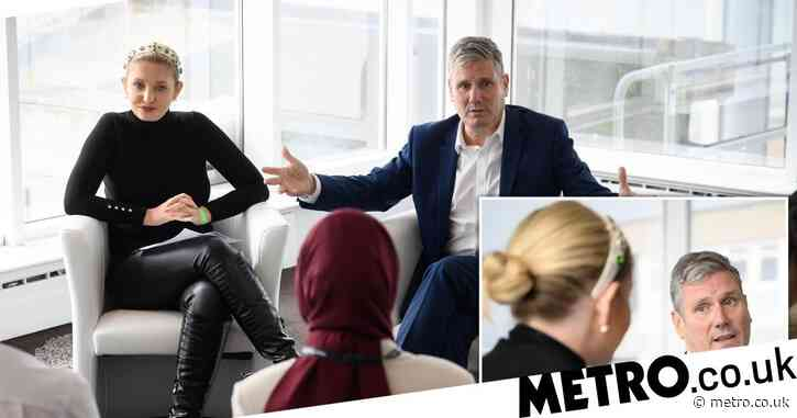 Love Island's Amy Hart joins Labour leader Keir Starmer to discuss social media trolling at Q&A with young people in Brighton