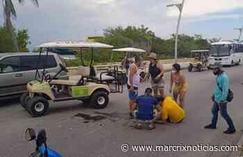 Turistas peruanos sufren accidente al manejar carro de golf en Isla Mujeres - Marcrix Noticias