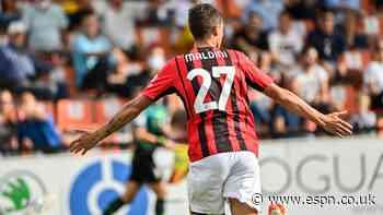 Maldini scores on full debut in AC Milan win