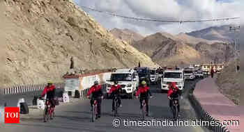 Anurag Thakur flags off second edition of Ultimate Ladakh Cycling Challenge - Times of India