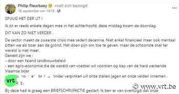 """Landbouwer uit Ieper roept collega-boeren op om brieven te schrijven naar de ministers, na zelfdoding van collega: """"Spuug het der ut"""" - VRT NWS"""
