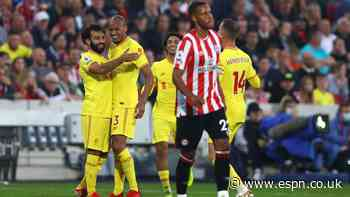 Liverpool draw with Brentford in six-goal thriller