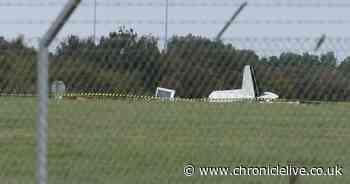 """Teesside Airport crash: Witnesses describe scene as light aircraft """"dropped rapidly"""""""