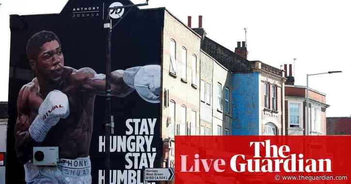 Anthony Joshua v Oleksandr Usyk: world heavyweight boxing title fight – live!