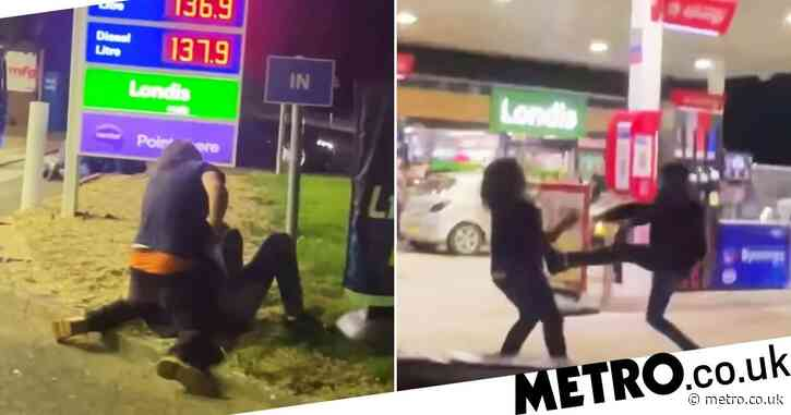 Fight breaks out at petrol station as tempers flare amid panic buying