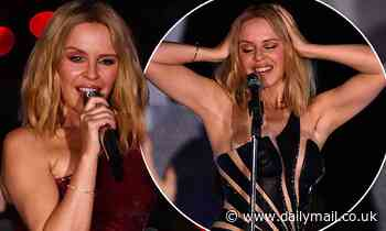 Kylie Minogue steals the show in a red glittery dress at the star-studded Global Citizen Live event