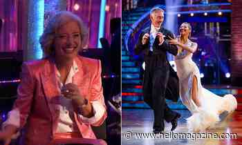 Emma Thompson brings Hollywood glamour to Strictly as she cheers husband Greg Wise