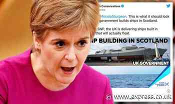 'Unlike SNP, UK delivering ships built in Scotland that actually float!' - Sturgeon mocked - Express