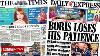 Scotland's papers: Fuel 'panic-buying' and HGV driver rules relaxed - BBC News