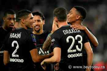 French leader PSG beats Montpellier 2-0 for 8th straight win