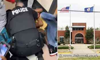 School resource officer uses his body to shield student from being attacked during brawl in Virginia
