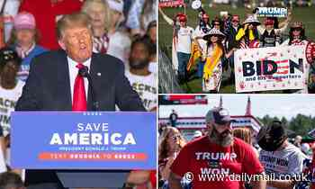 Donald Trump slams Biden's border crisis as an 'invasion' at Georgia rally