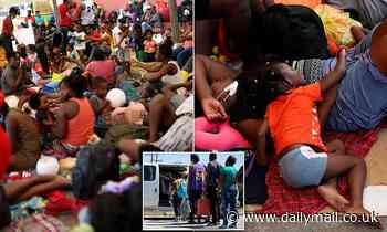 Thousands of Haitians are crammed together in cramped Mexican center after being forced back from US