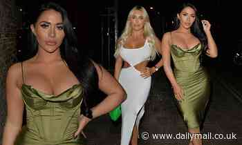 TOWIE'sChloe Brockett and Amber Turner put on a glamorous display in silky bodycon dresses