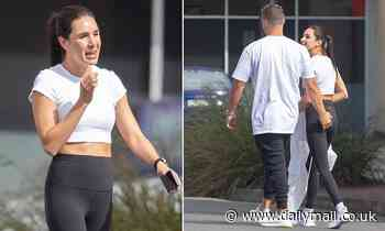Kayla Itsines gets handsy with mystery new boyfriend in Adelaide
