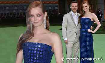 Chris Hardwick and Lydia Hearst appear at a red carpet event after announcing pregnancy