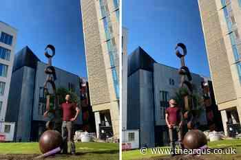 New art sculpture installed at Circus Street development in Brighton