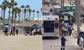 Armed man shot dead by cops who fired at him at point blank range Huntington Beach at Surfing open