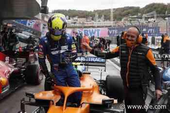McLaren sigue en la nube, Sainz brilla en seco y Mercedes patina - EFE - Noticias