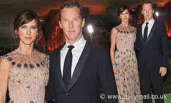 Benedict Cumberbatch puts on a cosy display with glamorous wife Sophie Hunter