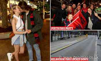 Perth parties hard into the night after hosting first AFL Grand Final Melbourne Demons Bulldogs