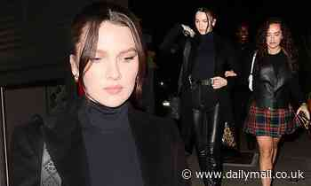 Liam Payne's girlfriend Maya Henry rocks all black look for night out with Rita Ora's sister Elenan - Daily Mail