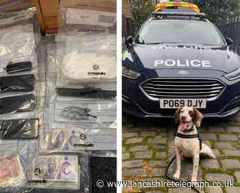 Drugs, cash and weapons found following vehicle search