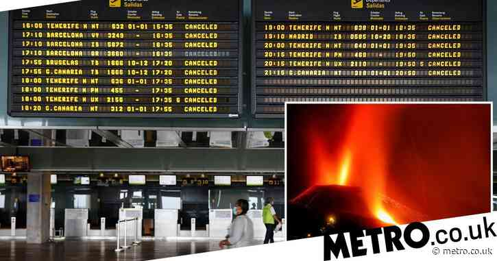 Flights grounded as volcano on Spanish island spews hot ash into the air