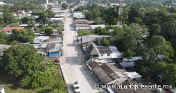 Inauguran calle pavimentada en Villa Aldama, Comalcalco - Diario Presente