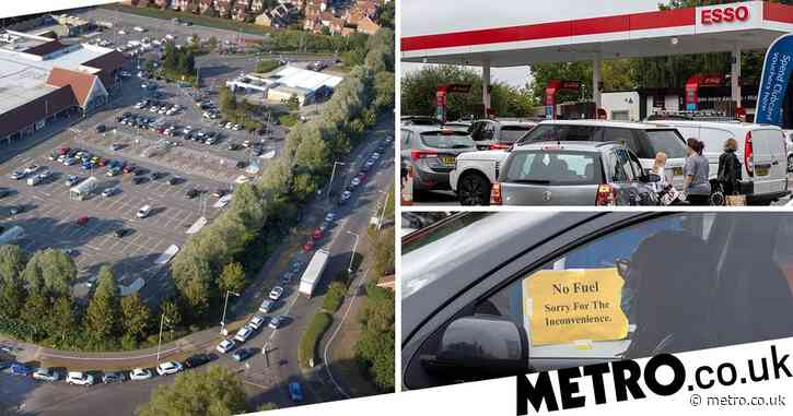 Grant Shapps urges drivers not to panic buy as he insists there's 'plenty of fuel'