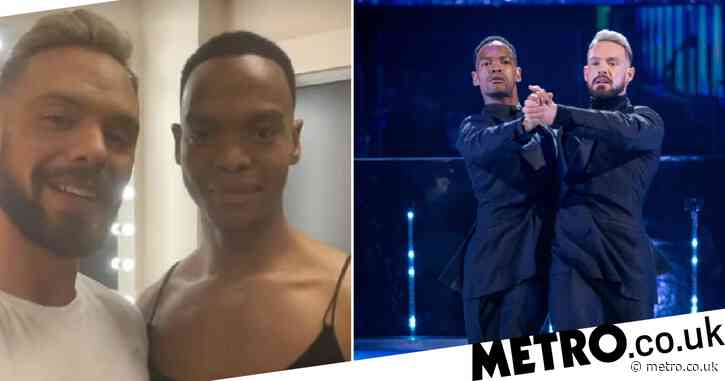 Strictly Come Dancing's John Whaite in tears after making history with Johannes Radebe in first all-male dance