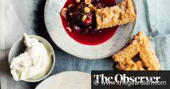 Nigel Slater's recipes for hazelnut biscuits, baked damsons and sweetcorn fritters - The Guardian