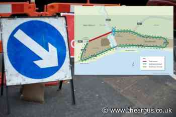 Map shows huge diversion in place while A27 remains shut