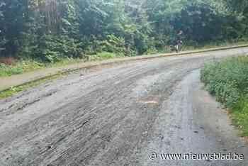 Even paniek voor start WK door groot modderspoor in Wilrijk
