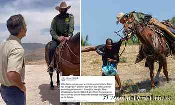 George P. Bush says mounted agents used split reins to control their horses NOT whip migrants