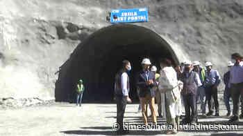 Anurag Thakur reviews construction work of Zojila Pass tunnel