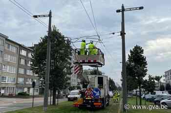 Hinder voor tramverkeer door kabelbreuk in Deurne (Deurne) - Gazet van Antwerpen