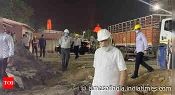 PM Modi inspects construction site of new Parliament building in Delhi