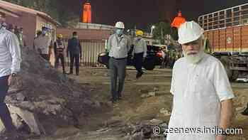 PM Modi visits new parliament building construction site at night, inspects work