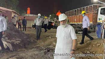 Watch: PM Narendra Modi visits construction site of new Parliament building