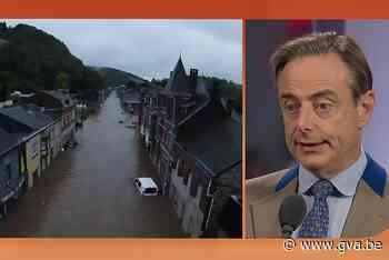 """De Wever haalt uit naar Wallonië: """"Geld voor solidariteitsfonds na watersnood? Ja, maar niet onvoorwaardelijk"""" - Gazet van Antwerpen"""