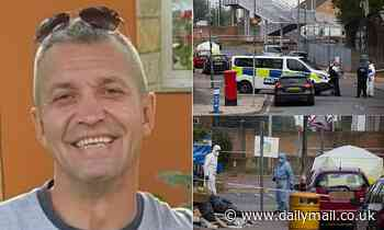Pictured: Lorry driver, 45, stabbed to death outside railway station as police arrest 27-year-old