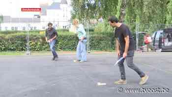 Wie helpt dit hypecourt in Sint-Gillis-Dendermonde schilderen? - TV Oost