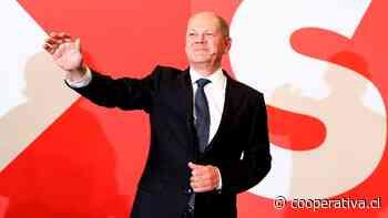 Socialdemócratas alemanes superan a conservadores por estrecho margen