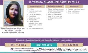 Buscan a Yessica Guadalupe de 17 años en Saltillo - El Siglo de Torreón