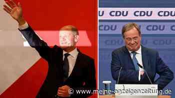 Wahl live: Letzte Hochrechnungen zeigen Tendenz im Scholz-Laschet-Kampf - Linke-Drama entschieden
